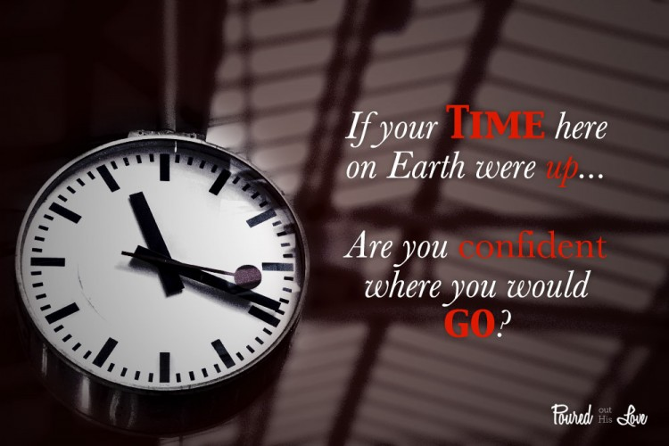 If your time here on earth were up are you confident where you would go?